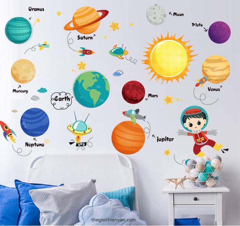 Tấm dán tường hệ Mặt Trời